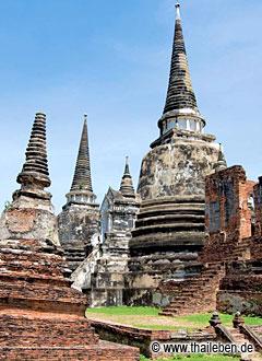 Der ikonische Wat Phra Si Samphet.