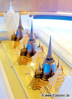 Modell des Wat Phra Si Samphet im Museum der Tourist Information.
