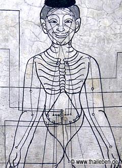Medizinische Lehrtafel im Wat Pho.