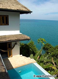 Private Villa zu vermieten mit allem Komfort und Meerblick.